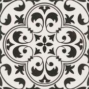 Gres szkliwiony PATCHWORK CONCEPT biało-czarny naomi satyna 29,8x29,8 gat. I