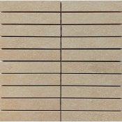 Gres zdobiony DRY RIVER beżowy mozaika prostokąty mat 29,55x29,55 gat. I