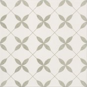 Gres szkliwiony PATCHWORK CONCEPT biało-szary clover pattern satyna 29,8x29,8 gat. I