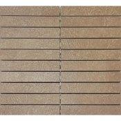 Gres zdobiony DRY RIVER brązowy mozaika prostokąty mat 29,55x29,55 gat. I