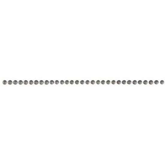 Płytka ścienna FLOWER szara listwa perle mat 0,6x25 gat. I