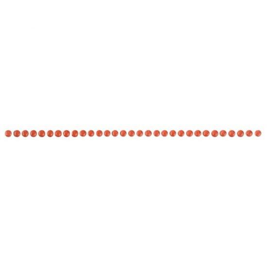 Płytka ścienna FLOWER czerwona listwa perle mat 0,6x25 gat. I