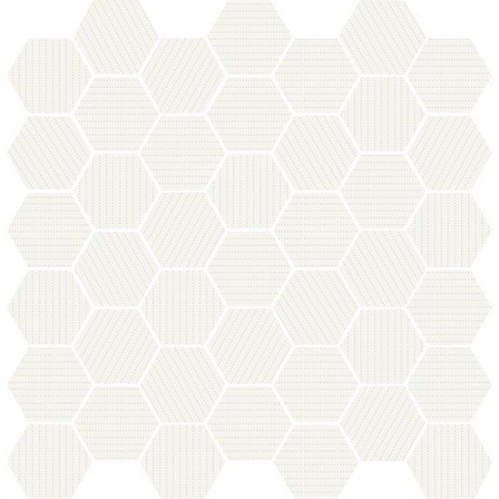 Mozaika MUZI biała błyszcząca 29x29,7 gat. I
