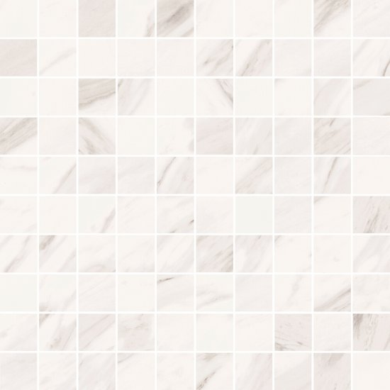 Mozaika MARBLE CHARM white błyszcząca 29x29 gat. I