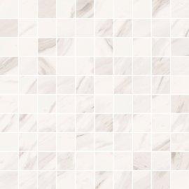 Mozaika gresowa MARBLE CHARM biała błyszcząca 29x29 gat. I