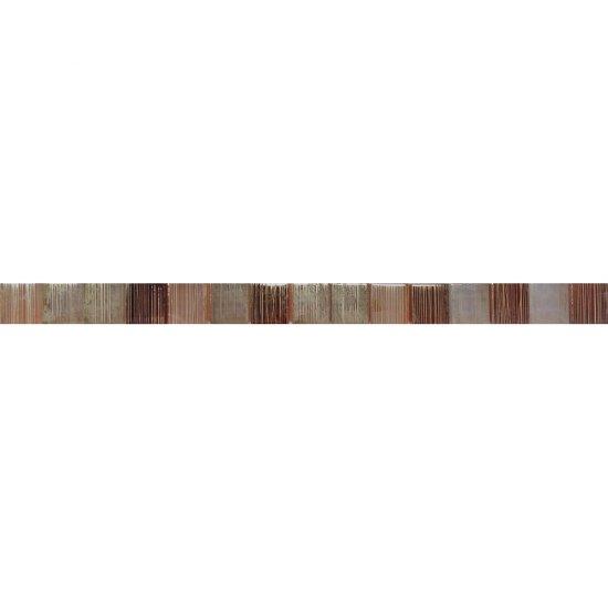Płytka ścienna CALIPSO brązowa listwa mozaika błyszcząca 2,8x45 gat. I