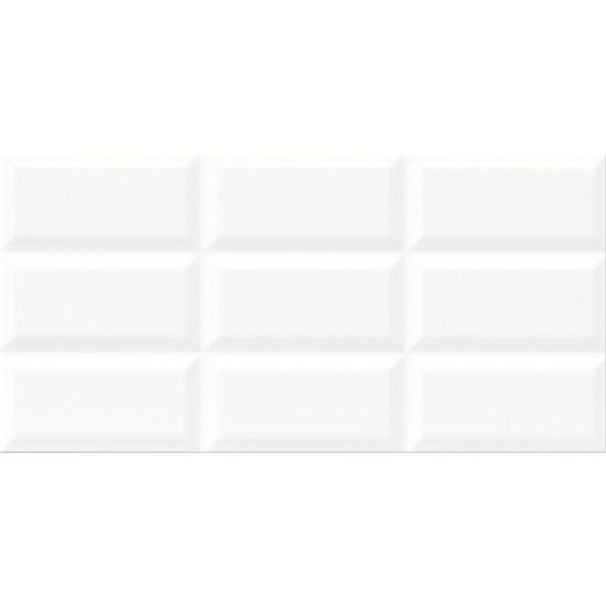 Płytka ścienna NARIS biała struktura błyszcząca 29,7x60 gat. II