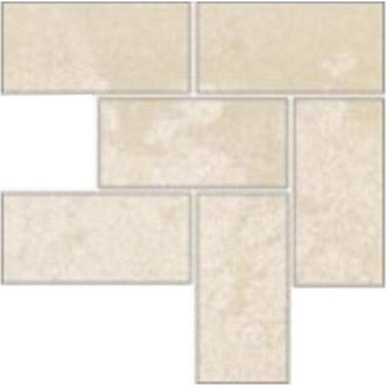Gres szkliwiony FIORITO beżowy narożnik mozaika A mat 9,8x9,8 gat. I