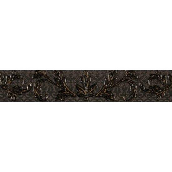 Płytka ścienna VALENTINA grafitowa listwa mat 5,4x29 gat. I