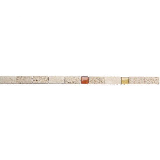 Płytka ścienna LAZIO beżowa listwa kamień mat 2,8x59,3 gat. I