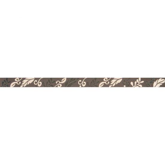 Płytka ścienna VALENTINA brązowa listwa flow mat 3,5x59,3 gat. I