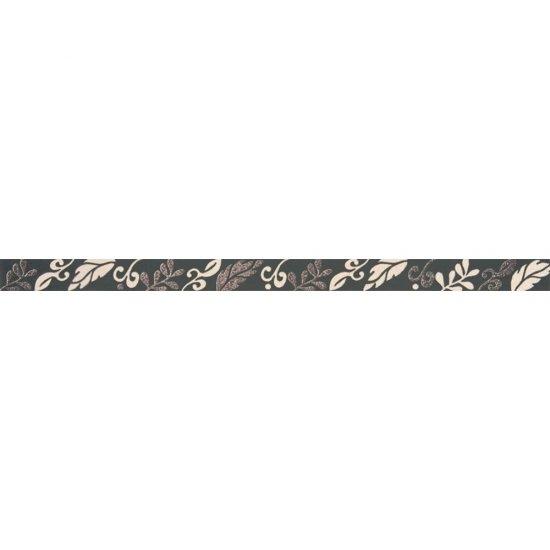 Płytka ścienna VALENTINA grafitowa listwa flow mat 3,5x59,3 gat. I
