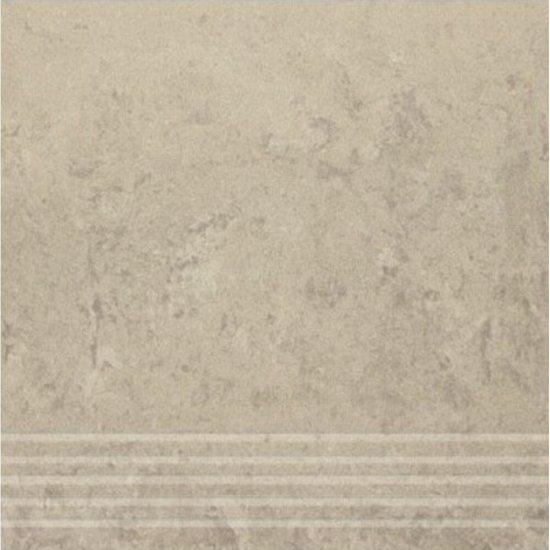 Gres zdobiony CALABRIA szary stopnica mat 29,55x29,55 gat. I
