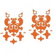 Naklejka dekoracyjna welurowa ornament 671001-1 Klimaty Domu