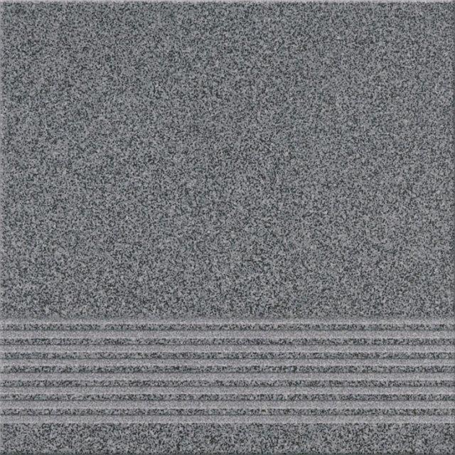 Gres techniczny KALLISTO grafitowy k10 stopnica mat 29,7x29,7 gat. I