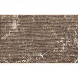 Płytka ścienna PIEDRA brązowa struktura błyszcząca 25x40 gat. I