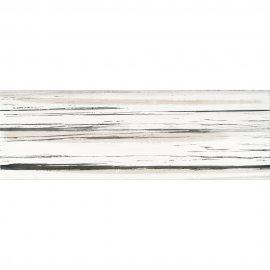 Płytka ścienna ARTISTIC WAY biała inserto paski błyszcząca 25x75 gat. I
