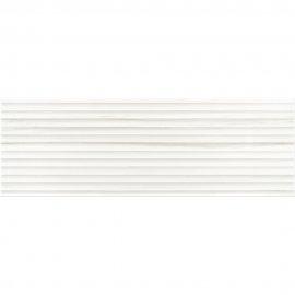Płytka ścienna ARTISTIC WAY biała struktura błyszcząca 25x75 gat. I