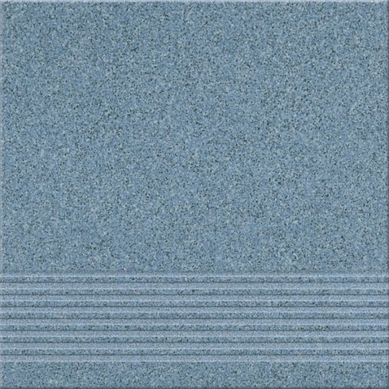 Gres techniczny KALLISTO niebieski stopnica k8 mat 29,7x29,7 gat. I