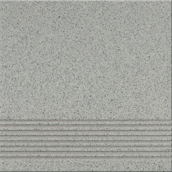 Gres techniczny KALLISTO szary k9 stopnica mat 29,7x29,7 gat. I