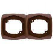 Ramka COMFORT podwójna pozioma R-2XH.BR brązowy Polmark