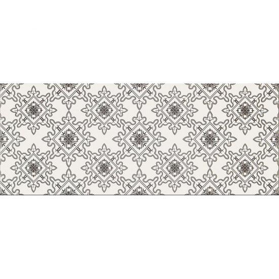 Płytka ścienna BLACK&WHITE biało-czarna wzór E mat 20x50 gat. II