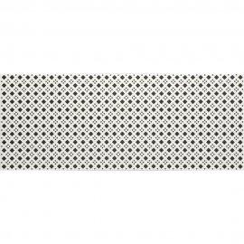 Płytka ścienna BLACK&WHITE biało-czarna wzór D mat 20x50 gat. II