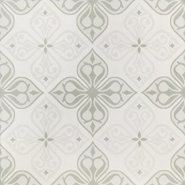 Gres szkliwiony PATCHWORK CONCEPT biało-szary flores satyna 29,8x29,8 gat. II