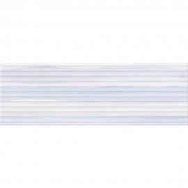 Płytka ścienna ELEGANT STRIPES niebieska struktura błyszcząca 25x75 gat. II