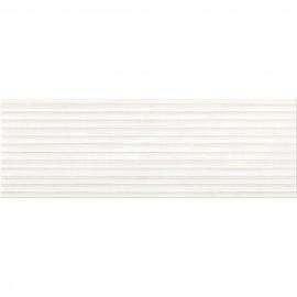 Płytka ścienna ELEGANT STRIPES biała struktura błyszcząca 25x75 gat. II