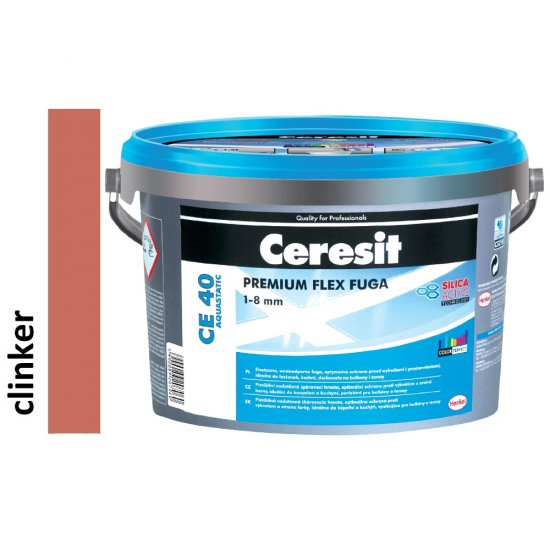 Fuga elastyczna CERESIT CE 40 clinker 5 kg