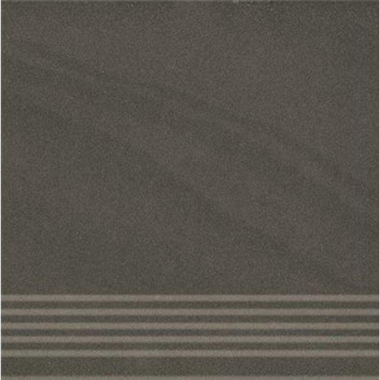 Gres zdobiony KANDO czarny stopnica mat 29,55x29,55 gat. I