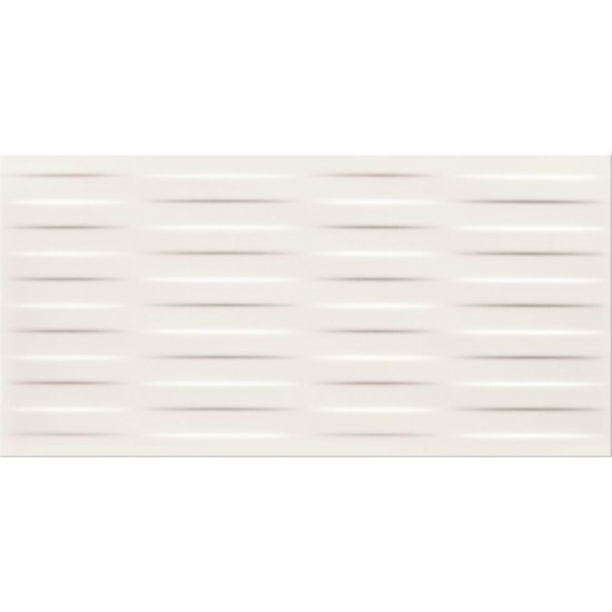 Płytka ścienna BASIC PALETTE biała struktura warkocz mat 29,7x60 gat. II