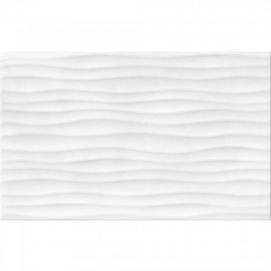 Płytka ścienna ELLE biała struktura błyszcząca 25x40 gat. II