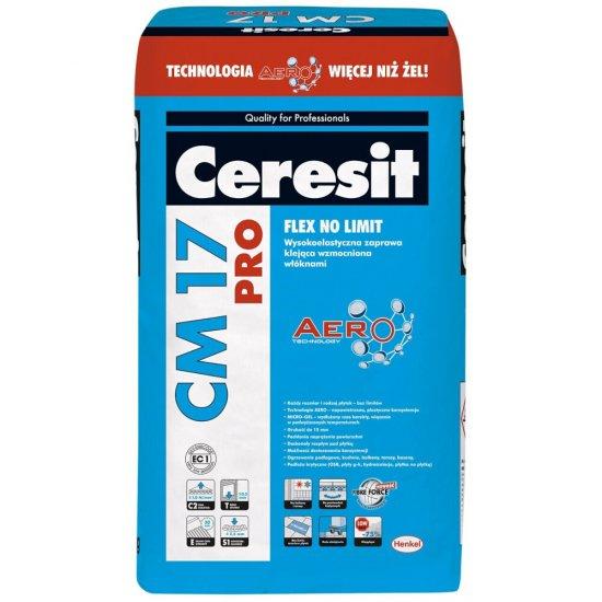 """Zaprawa klejąca elastyczna do płytek CERESIT CM 17 """"Super Flexible"""" 25kg"""