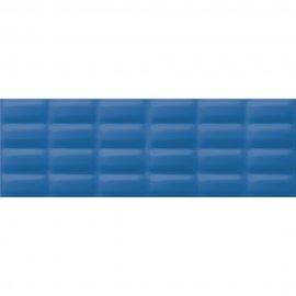 Płytka ścienna VIVID COLOURS niebieska struktura pillow błyszcząca 25x75 gat. II