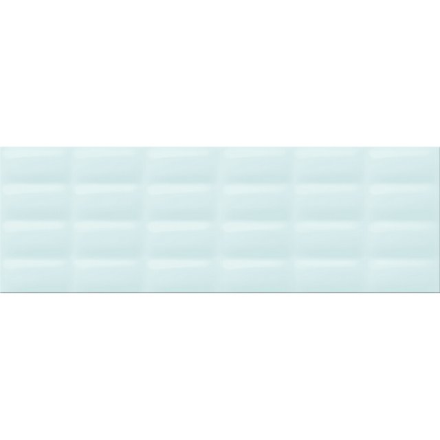 Płytka ścienna VIVID COLOURS jasnozielona pillowstruktura błyszcząca 25x75 gat. II