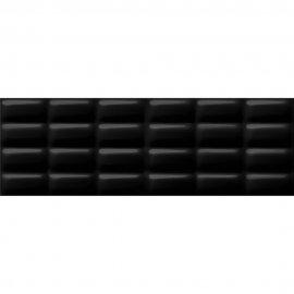 Płytka ścienna PRET A PORTER czarna struktura pillow błyszcząca 25x75 gat. II
