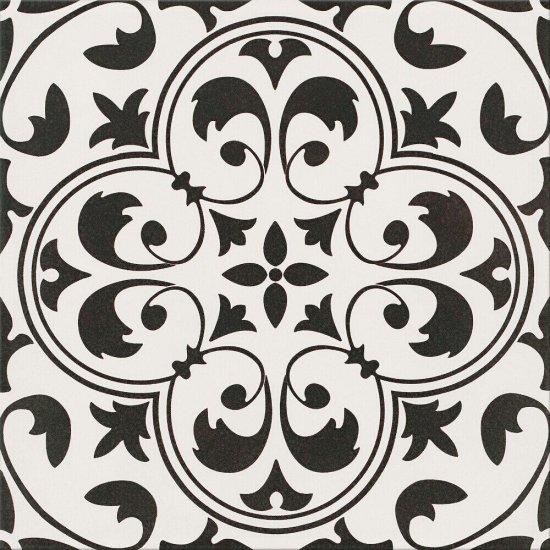Gres szkliwiony PATCHWORK CONCEPT biało-czarny naomi mat 29,8x29,8 gat. II#