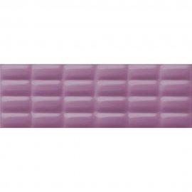 Płytka ścienna VIVID COLOURS fioletowa struktura pillow błyszcząca 25x75 gat. II