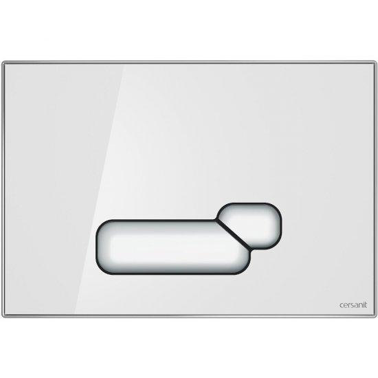 Przycisk spłukujący ACTIS szkło białe