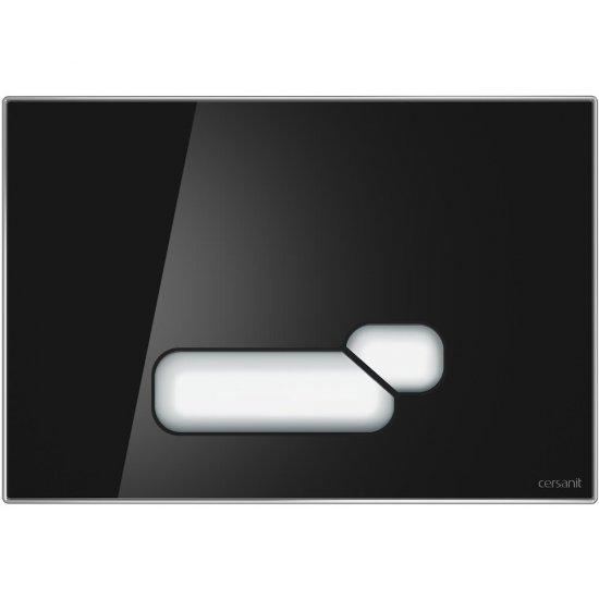 Przycisk spłukujący ACTIS szkło czarne