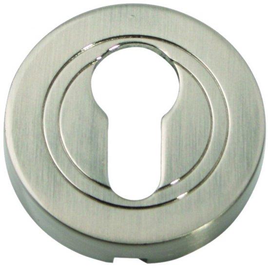 Szyld drzwiowy okrągły wkładka nikiel szczotkowany PLT-23-Y-07-SU Gamet