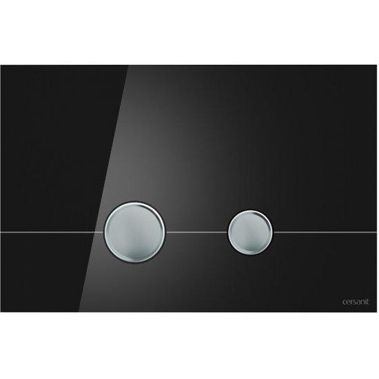 Przycisk spłukujący STERO szkło czarne