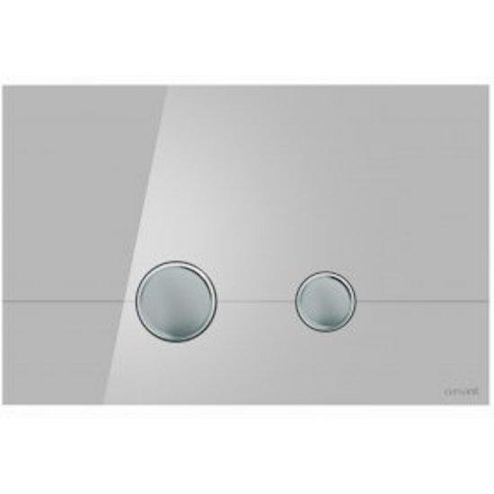 Przycisk spłukujący STERO szkło szare