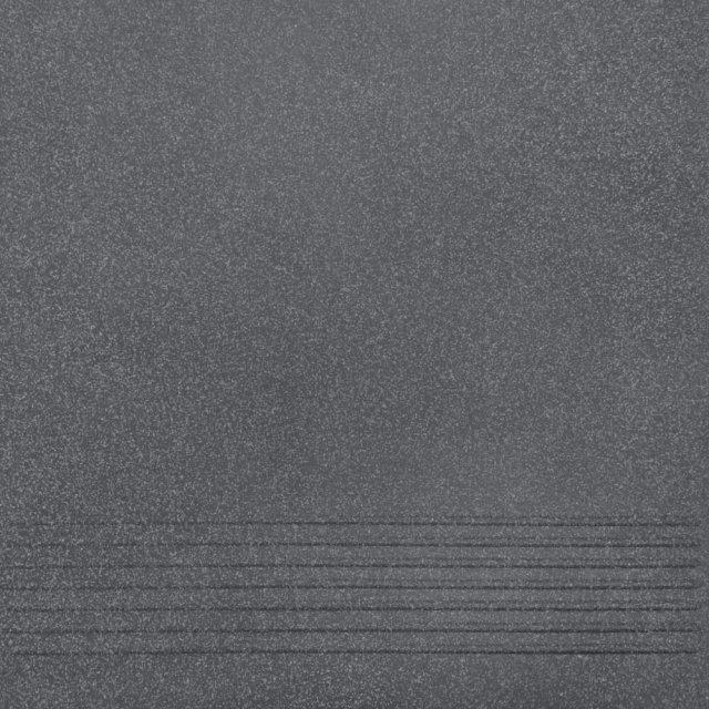 Gres techniczny NOSO grafitowy stopnica mat 30x30 gat. II