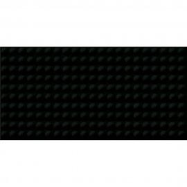 Płytka ścienna ORIGAMI DUNE PULSE czarna struktura błyszcząca 29,7x60 gat. II