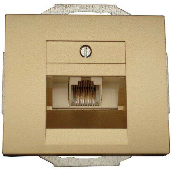 Gniazdo modułowe NOVA telefoniczno-komputerowe pojedynczeGTP-10N złoty Abex