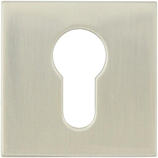 Szyld drzwiowy kwadratowy EF KWADRAT-QR wkładka bębenkowa stal nierdzewna TUPAI