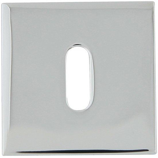 Szyld drzwiowy kwadratowy KWADRAT-QR klucz chrom lakierowany TUPAI